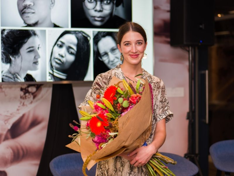 Amy Louise Wilson, winner of the 2020 Distell National Playwright Competition